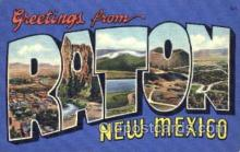 LLT001743 - Greetings From Raton, New Mexico, USA Large Letter Town Towns Postcard Postcards