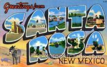 LLT001744 - Greetings From Santa Rosa, New Mexico, USA Large Letter Town Towns Postcard Postcards