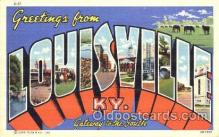 LLT001750 - Greetings From Louisville, Kentucky, USA Large Letter Town Towns Postcard Postcards