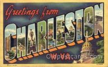 LLT001751 - Greetings From Charleston, West Virginia, USA Large Letter Town Towns Postcard Postcards