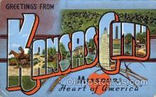 LLT001758 - Greetings From Kansas City, Missouri, USA Large Letter Town Towns Postcard Postcards