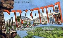 LLT001760 - Greetings From Missouri, USA Large Letter Town Towns Postcard Postcards