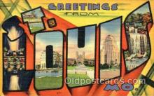 LLT001761 - Greetings From St. Louis, Missouri, USA Large Letter Town Towns Postcard Postcards