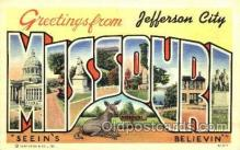 LLT001762 - Greetings From Jefferson, City Missouri, USA Large Letter Town Towns Postcard Postcards