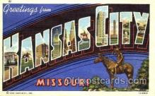 LLT001763 - Greetings From Kansas City, Missouri, USA Large Letter Town Towns Postcard Postcards