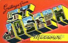 LLT001767 - Greetings From St. Joseph, Missouri, USA Large Letter Town Towns Postcard Postcards