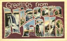 LLT001771 - Greetings From Niagara Falls, USA Large Letter Town Towns Postcard Postcards