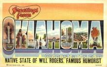 LLT001781 - Greetings From Oklahoma, USA Large Letter Town Towns Postcard Postcards