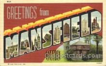 LLT001782 - Greetings From Mansfield, Ohio, USA Large Letter Town Towns Postcard Postcards