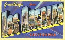 LLT001783 - Greetings From Los Angelas, California, USA Large Letter Town Towns Postcard Postcards