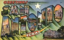 LLT001791 - Greetings From San Antonio, Texas, USA Large Letter Town Towns Postcard Postcards