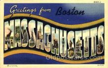 LLT001805 - Greetings From Boston, Mass. USA Large Letter Town Towns Postcard Postcards