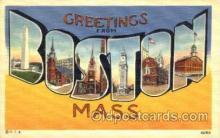 LLT001806 - Greetings From Boston, Mass. USA Large Letter Town Towns Postcard Postcards