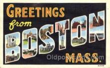 LLT001807 - Greetings From Boston, Mass. USA Large Letter Town Towns Postcard Postcards