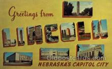 LLT001810 - Greetings From Lincoln, Nebraska, USA Large Letter Town Towns Postcard Postcards