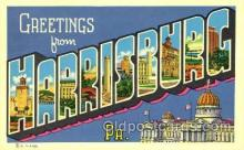 LLT001812 - Greetings From Harrisburg, PA. USA Large Letter Town Towns Postcard Postcards