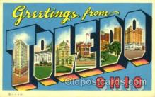 LLT001813 - Greetings From Toledo, Ohio, USA Large Letter Town Towns Postcard Postcards