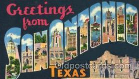 LLT001819 - San Antonio, Texas Large Letter Town Postcard Postcards