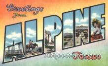 LLT001820 - Alpine, Texas Large Letter Town Postcard Postcards
