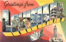 LLT001828 - Louisiana Large Letter Town Postcard Postcards
