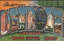 LLT001829 - Detroit, Michigan Large Letter Town Postcard Postcards