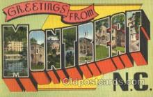 LLT001833 - Montreat, North Carolina Large Letter Town Postcard Postcards