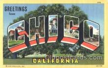 LLT001834 - Chico, California Large Letter Town Postcard Postcards