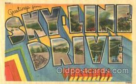 LLT001837 - Sky-Line Drive, Virginia Large Letter Town Postcard Postcards