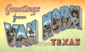 LLT001839 - Van Horn, Texas Large Letter Town Postcard Postcards