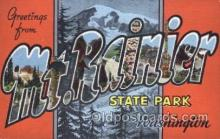 LLT001843 - Mt. Rainier, Washington Large Letter Town Postcard Postcards