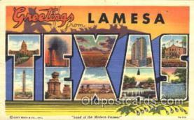 LLT001844 - Lamesa, Texas Large Letter Town Postcard Postcards