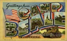 LLT001848 - Camp Beale, California, USA Large Letter Towns  Postcard Postcards