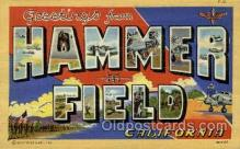 LLT001849 - Hammer Field, California, USA Large Letter Towns  Postcard Postcards