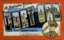 LLT001850 - Fortord Monterey, California, USA Large Letter Towns  Postcard Postcards
