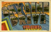 LLT001856 - Sky line Drive, Virginia, USA Large Letter Towns  Postcard Postcards