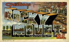 LLT001857 - Rocky Mountain, North Carolina Large Letter Towns  Postcard Postcards