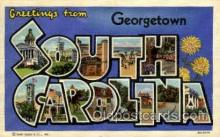 LLT001859 - Georgetown, South Carolina,USA Large Letter Towns  Postcard Postcards