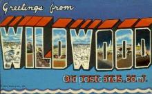 LLT001863 - Wildwood, NJ, New Jersy, USA Large Letter Towns  Postcard Postcards