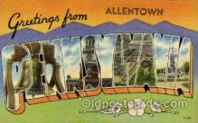 LLT001865 - Allentown, PA, Penssylvania, USA Large Letter Towns  Postcard Postcards