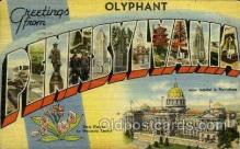 LLT001869 - Olyphant, Pennsylvania, USA Large Letter Towns  Postcard Postcards