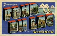 LLT001871 - Fond Du Lac, Wisconsin, USA Large Letter Towns  Postcard Postcards