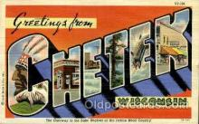 LLT001873 - Chetek, Wisconsin, USA Large Letter Towns  Postcard Postcards