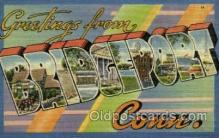 LLT001875 - Bridgeport, Conn, Connecticut, USA Large Letter Towns  Postcard Postcards