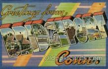 LLT001876 - Bridgeport, Conn, Connecticut, USA Large Letter Towns  Postcard Postcards