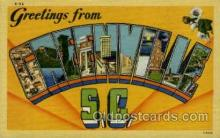 LLT001877 - Greenville, SC, South Carolina, USA Large Letter Towns  Postcard Postcards