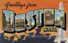 LLT001889 - Boston, Massachusetts, USA Large Letter USA Town, Towns, Postcard Postcards