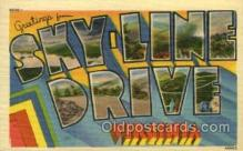 LLT001890 - Sky line Drive, Virginia, USA Large Letter USA Town, Towns, Postcard Postcards