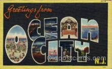 LLT001900 - Ocean City, NJ, New Jersy, USA Large Letter USA Town, Towns, Postcard Postcards