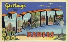 LLT001907 - Wichita, Kansas, USA Large Letter USA Town, Towns, Postcard Postcards