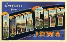 LLT001909 - Iowa City, Iowa, USA Large Letter USA Town, Towns, Postcard Postcards